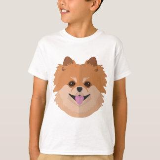 T-shirt Bande dessinée mignonne de Pomeranian !