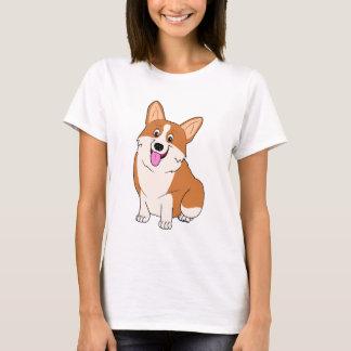 T-shirt Bande dessinée potelée de corgi de Gallois