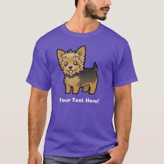 T-shirt Bande dessinée Yorkshire Terrier (cheveux courts