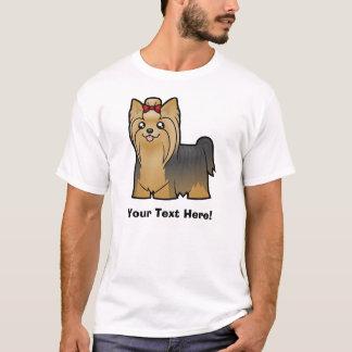 T-shirt Bande dessinée Yorkshire Terrier (longs cheveux