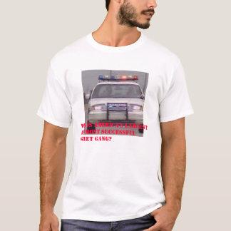 T-shirt Bandes et police