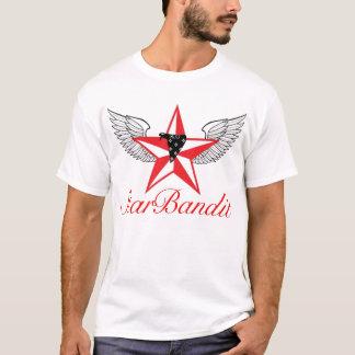 T-shirt Bandit d'étoile de cerise (pièce en t blanche)