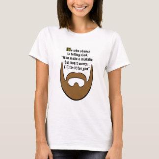 T-shirt barbe brune
