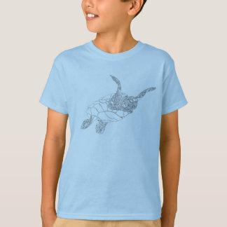 T-shirt Barbotage de la tortue