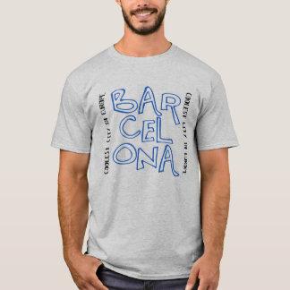 T-shirt Barcelone est fraîche (bleu)