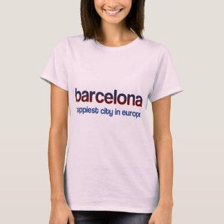 T-shirt Barcelone Happiest Ville, Blau Ensemence