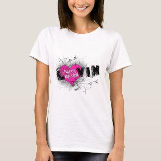 T-shirt Baril de Luvin emballant l'habillement