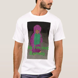 T-shirt barneycrop, aucun je ne suis pas prise de bec