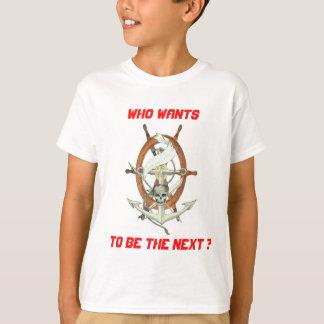 T-shirt Barre bateau et  tête de mort
