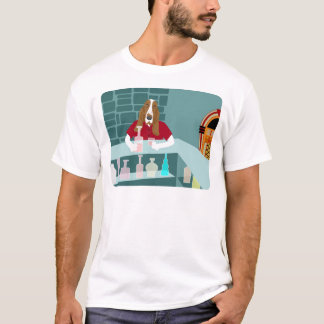 T-shirt Barre de whiskey de Basset Hound