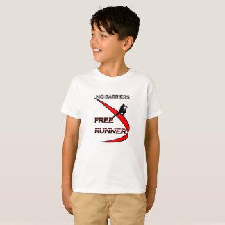 T-shirt barrière ne libère pas la pièce en t de coureur