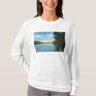 T-shirt Bartlett portent la vue de club du lac supérieur