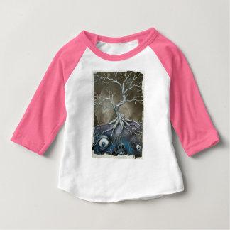 T-shirt bas de boule d'enfant en bas âge