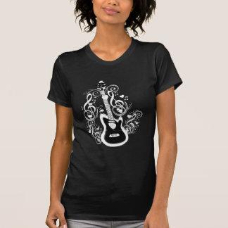 T-shirt Basculons, le notes&Guitar_ blanc de musique