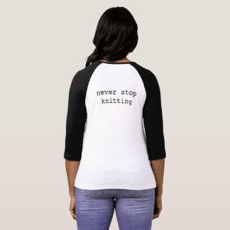 T-shirt Base-ball en verre T de Knits de Kristy -