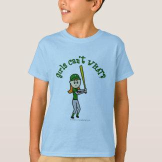 T-shirt Base-ball vert clair de filles