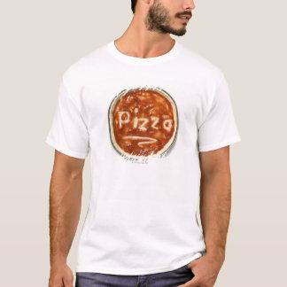 T-shirt Base de pizza avec la sauce tomate et le mot