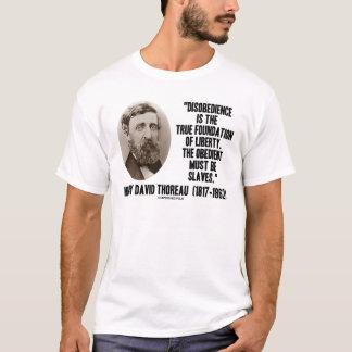 T-shirt Base vraie de désobéissance de Thoreau de la