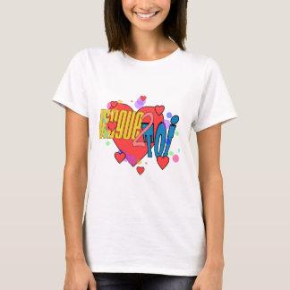 """T-shirt Basic pour femme, Blanc """"Dingue 2 Toi"""""""
