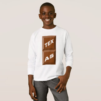 T-SHIRT BASIQUE   BLANC  TEXAS  CHOCOLAT