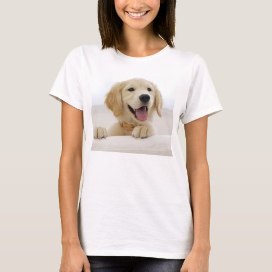 t-shirt basique femme chien golden retriever