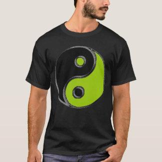 T-shirt basique homme Yin Yang Noir/Vert Anis