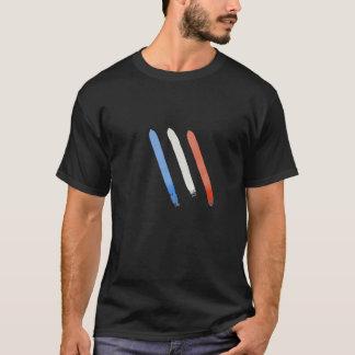 T-shirt basique Noir, Griffes Bleu Blanc Rouge