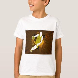 T-shirt basket-ball abstrait psychédélique