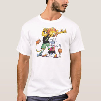 T-shirt Basket-ball de lion et de moutons