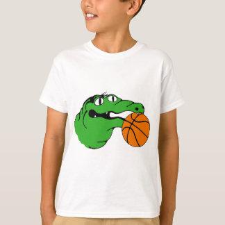 T-shirt BASKET-BALL de vitesse d'alligator aucuns mots