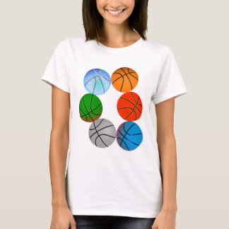 T-shirt Basket-balls multiples