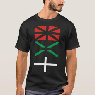T-shirt Basque flag design