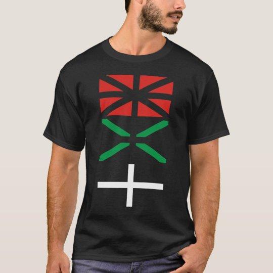 T-shirt Basque flag design