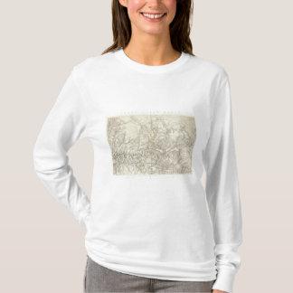T-shirt Bassin de la rivière Green topographique