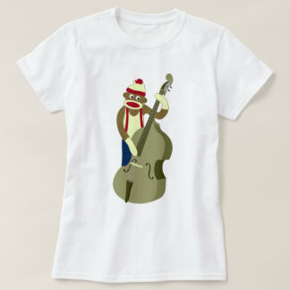 T-shirt Bassiste droit de singe de chaussette