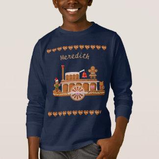 T-shirt Bateau à vapeur de Noël de pain d'épice