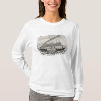 T-shirt Bateau des îles de Mortlock avec le tangon