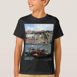T-shirt Bateaux de baril de vin, Porto, Portugal