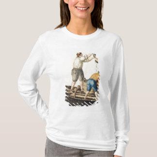 T-shirt Bateliers versant l'eau doux dans les