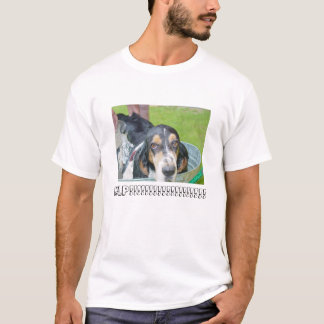 T-shirt Bath de chien de basset-hound