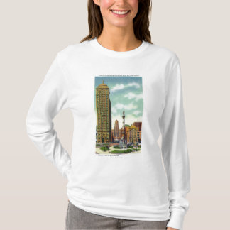 T-shirt Bâtiment de banque de liberté, ville hôtel