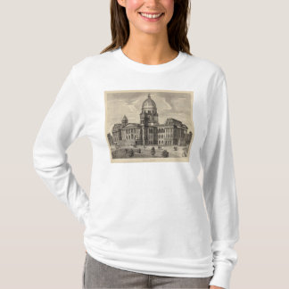 T-shirt Bâtiment de capitol d'état, Springfield, malade