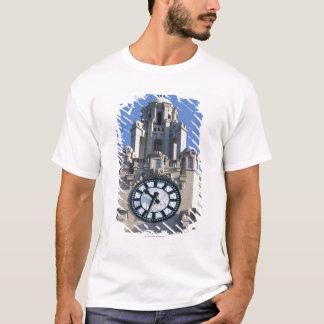 T-shirt Bâtiment de foie, bâtiment de Cunard, Liverpool,
