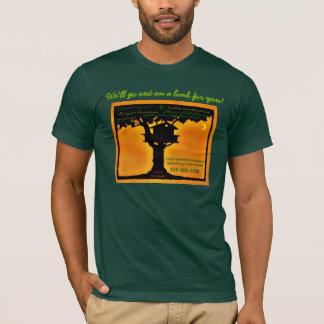 T-shirt Bâtiment fin de cabane dans un arbre, cabane dans