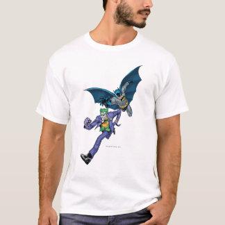 T-shirt Batman et joker avec l'arme à feu