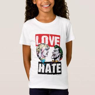 T-Shirt Batman | Harley Quinn et amour de joker/haine