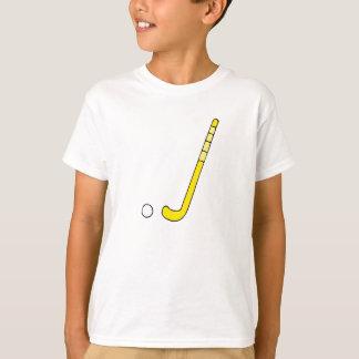 T-shirt Bâton de jaune d'hockey de champ