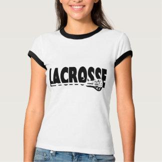 T-shirt Bâton de lacrosse noir et blanc