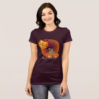 T-shirt Batte de citrouille d'étincelle de chat de