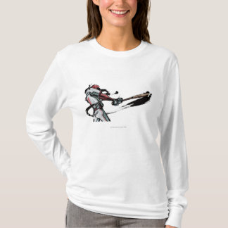 T-shirt Batte de oscillation de joueur de baseball, vue de